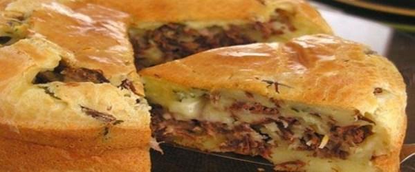 Receita de Bolo de pão de queijo recheado