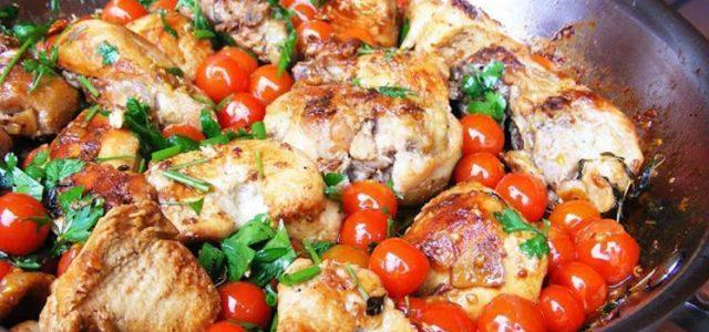 Confira uma receita muito gostosa,Frango com Tomate Cereja
