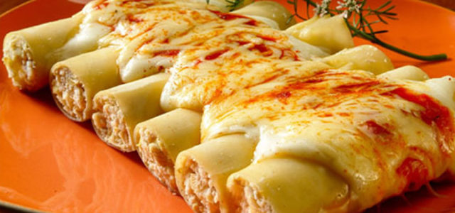 Canelone de frango com catupiry:Receita prática  e com um recheio muito delicioso!