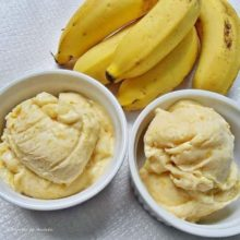 Sorvete Caseiro de Maçã e Banana Fitness